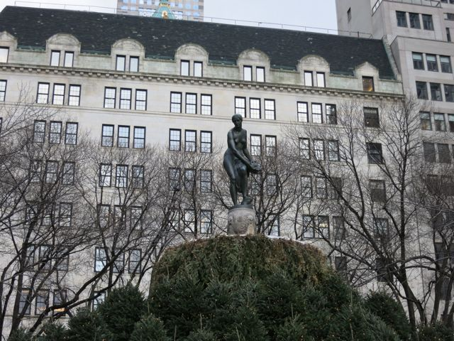 Statue outside the Plaza Hotel